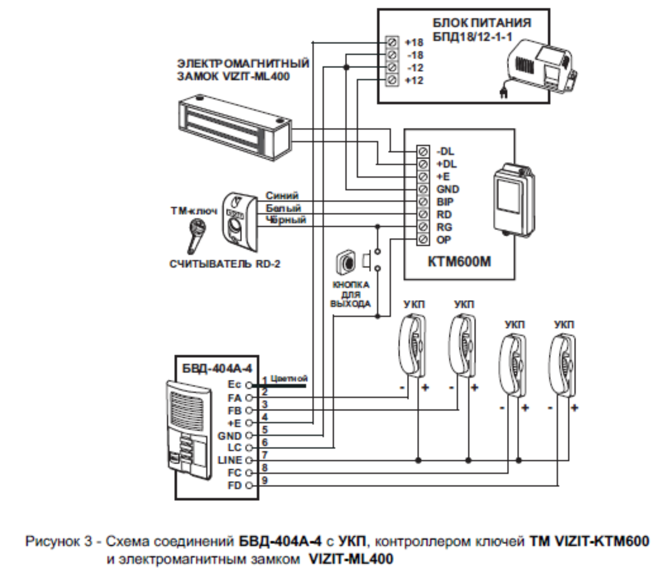 Электромагнитный замок с контроллером с домофоном схема подключения